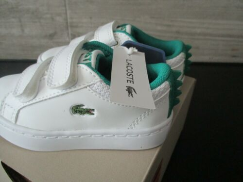 Boys Lacoste trainers infants Straightset 119 shoes toddlers