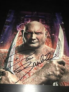 DAVE-BAUTISTA-SIGNED-AUTOGRAPH-11x14-PHOTO-GUARDIANS-OF-THE-GALAXY-MARVEL-COA-D