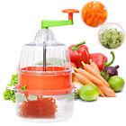 Multifunctional Manual Spiral Plastic Vegetable Slicer Fruit Cutter Kitchen Tool