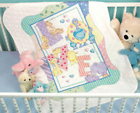 Cross Stitch Kit Dimensions Cute Zoo Alphabet Baby Quilt / Cover 73470