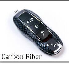 Carbon Fiber Key Fob Cover Keyless Remote Case Casing Housing 3 4 Button Porsche