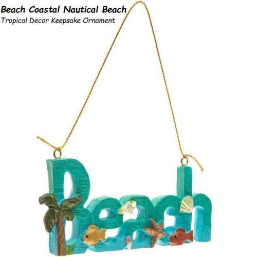 Beach  Coastal Nautical Beach Tropical Decor Keepsake Christmas Ornament