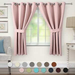 Details about VEEYOO Bedroom Blackout Curtains 2 Panels - Thermal Insulated  Grommet Window
