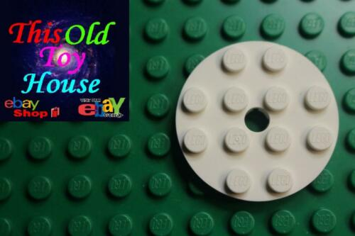 LEGO 60474 PLATE 4X4 ROUND with SNAP 60474 CHOICE OF COLOR pre-owned