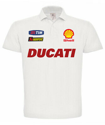 Fiducioso Polo Manica Corta Ducati Desmo 996 998 748 Monster Multistrada
