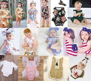 Newborn-Infant-Baby-Girl-Floral-Bodysuit-Romper-Jumpsuit-Clothes-Outfits-Sunsuit