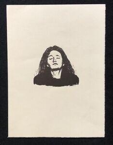 Wilhelm-Laage-testa-di-donne-1912-legno-taglio-dal-SCONTO-1972