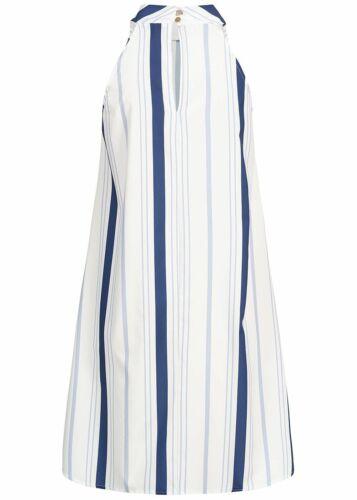 35/% OFF B19056404 Damen Violet Kleid Knielang A-Line Choker Dress gestreift weiß