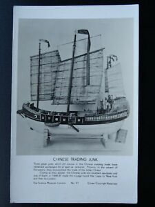 Transport-Sailing-c1846-CHINESE-TRADING-JUNK-c1950s-RP-Postcard