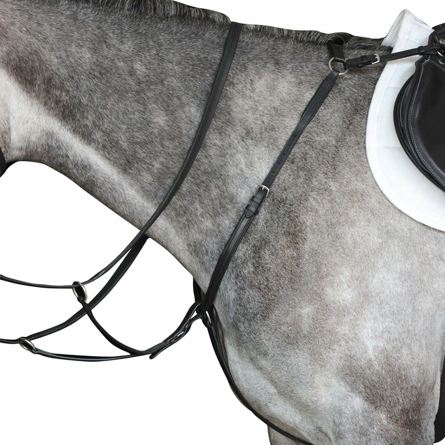Collegiate Hunter Leather Breast Plate  IV Attaches to Saddle in 3 Points  we supply the best