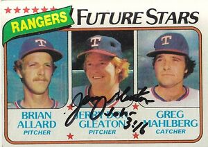 1980-Topps-673-Signed-JERRY-DON-GLEATON-Autograph-Rangers-Pitcher-John-3-16