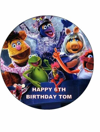 7.5 ROUND THE MUPPETS EDIBLE ICING BIRTHDAY CAKE TOPPER