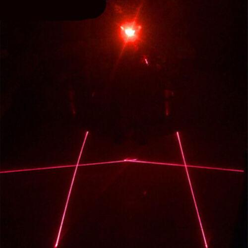 Cycling Safety Warning 2 Laser 5 LED Bicycle Bike Tail Flashing Lamp Light Rear