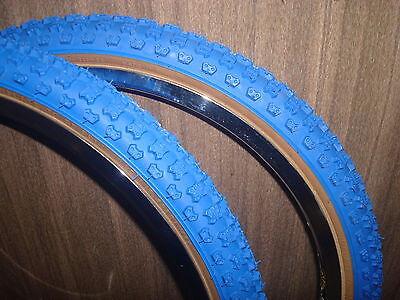 Blue skinwall Comp III 20x1.75//2.125 pair fits GT JMC old school BMX
