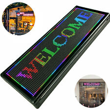 New Listing40 X 15 Inch Seven Color Led Sign Programmable Scrolling Message Display Banner