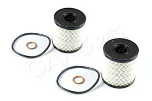 Genuine BMW Set Oil-Filter Element 2Pcs MINI Cooper Jcw One R55 R56 11427622446