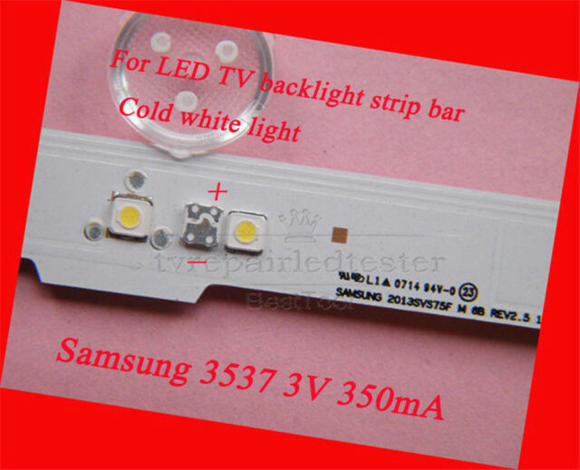 100pcs 3537 3535 Smd Lamp Beads 3v Specially For Samsung Led Strip Repair Tv