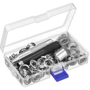 Metall-Osen-Set-Lochschneider-Kupfer-Silber-Solide-Dauerhaft-Tuelle-Werkzeug-DE