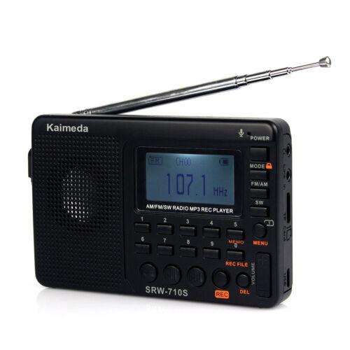Shortwave FM//AM//SW radio Stereo Receiver mp3 player Recorder