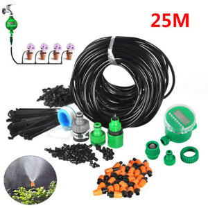 DIY-Drip-Irrigation-System-Kit-Automatic-Timer-Self-Watering-Hose-Garden-Plant