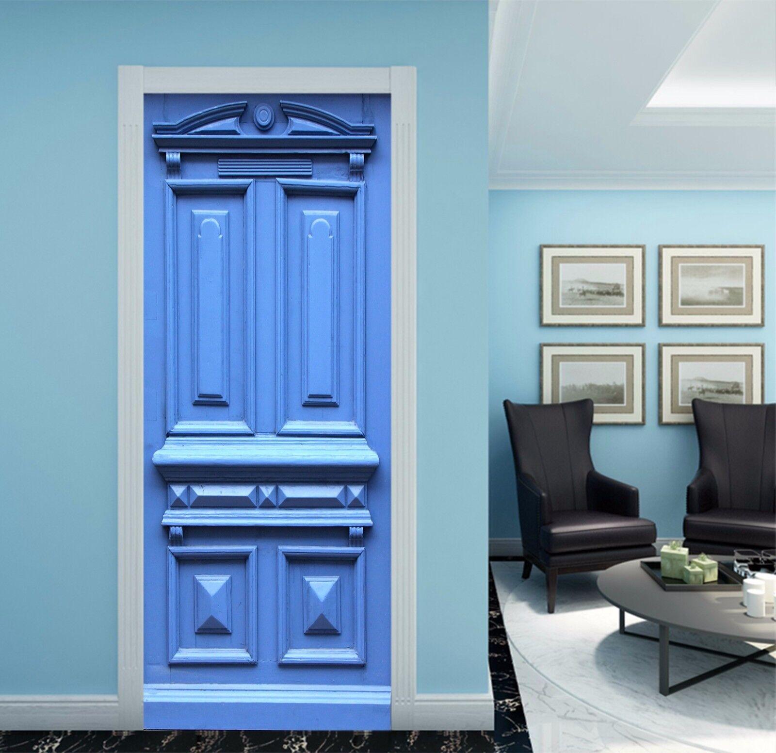 3D Muster Blau 772 Tür Wandmalerei Wandaufkleber Aufkleber AJ WALLPAPER DE Kyra | Einfach zu bedienen  | Moderne Technologie  | New Products