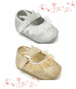 Details about Infant Baby Girl Crown Crib Shoes Toddler Party Wedding Dress Shoes Size 1 2 3