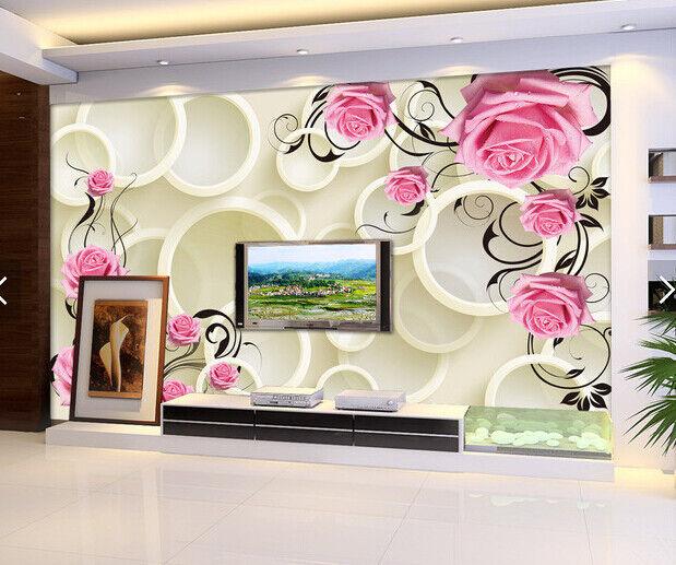 3D Blaumenring 798 Tapete Tapeten Mauer Foto Familie Tapete Wandgemälde DE