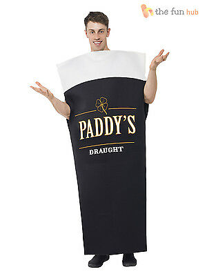 Mens St Patricks Day Costume Irish Beer Fancy Dress Costume Stag Guiness Funny