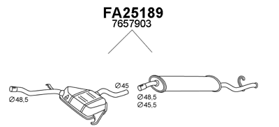 Acquista A Buon Mercato Silenziatore Marmitta Posteriore Fiat Tempra 2.0