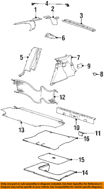 20 Lift Gate-Lower Trim Panel Clip Push-Type Retainer For GM 11517824 For Saturn