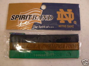Image Is Loading Notre Dame Irish 3 Rubber Wristbands Bracelets New