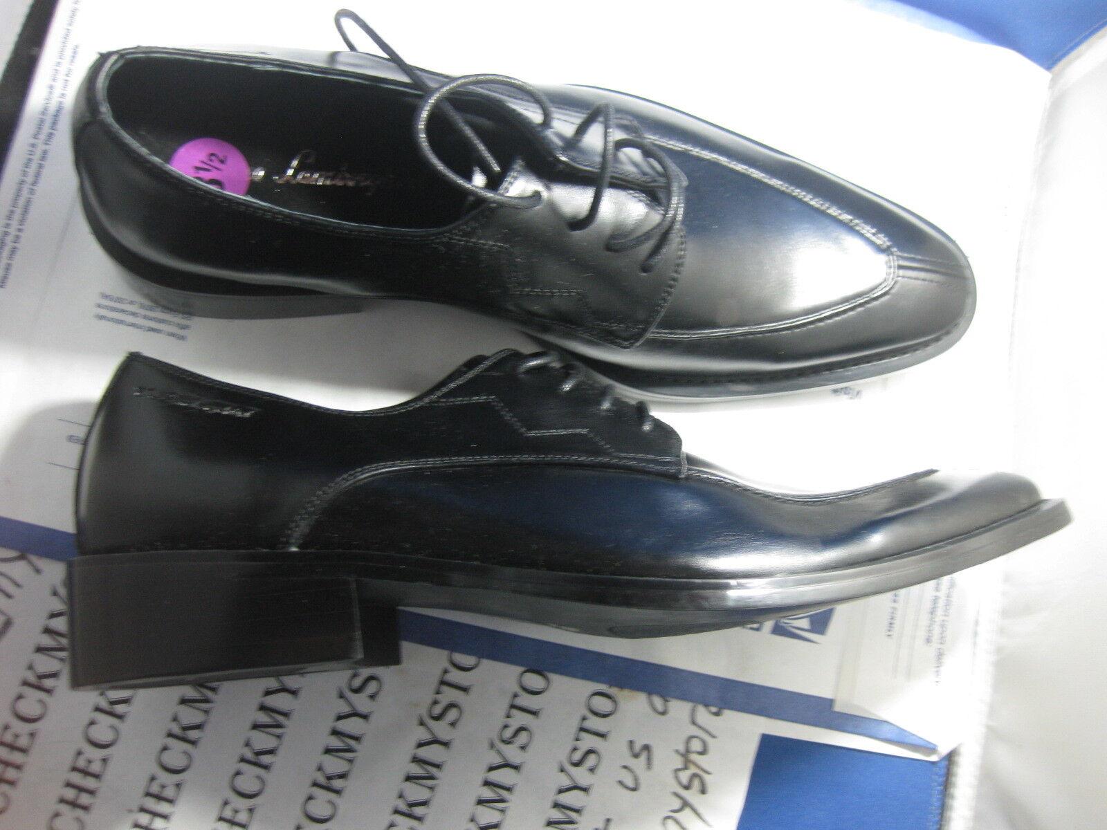 Nuevo Vestido Italiano TONINO LAMBORGHINI Oxford Zapatos Negro Cuero handmad