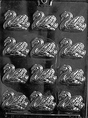SMALL BS SWAN PIECES mold Chocolate Candy soap favors wedding shower cupcake