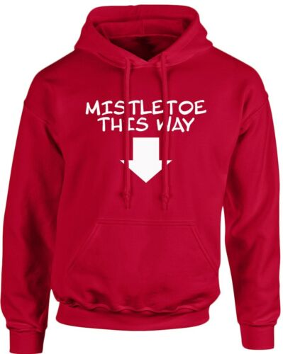 by swagwear Mistletow Christmas Xmas Unisex Hoodie 10 Colours S-5XL