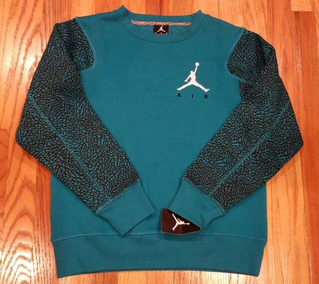 d1a5e568f599 Nike Air Jordan Boys Sz M Jumpman Elephant Print Fleece Sweatshirt 952361  E39 for sale online