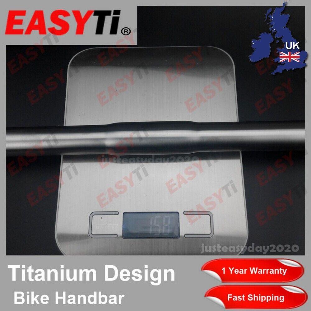 EasyTi Titanium S-TYPE flat Handle Bar 25.4mm  fit Dahon Tern Brompton Birdy-Ti  sale online