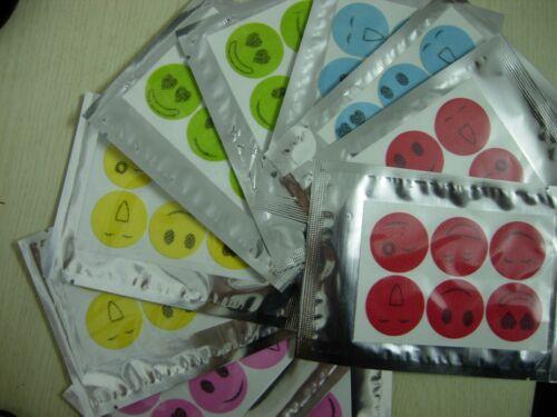 240PCS Mosquito Repellent Insect Bug Repel Stickers Citronella Oil Smile Face