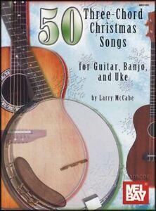 50 Trois Corde Christmas Songs For Guitar Banjo Ukulele Chord & Mélodie Répertoire-afficher Le Titre D'origine