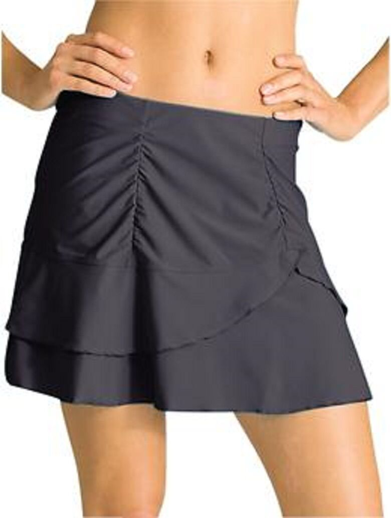 ATHLETA Sunkiss Skirt Swim Skirt, NWT, Asphalt,  Size XS, Adorable