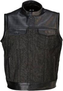 Z1R Men's Linchpin Vest Motorcycle Vest Black All Sizes
