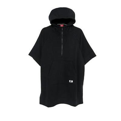 Women/'s Nike Modern Sports Wear Poncho Hoodie Fashion Casual 803610 010 Black