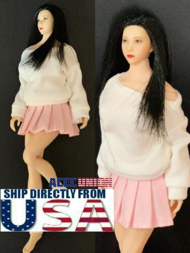 "1//12 Women Sweater Skirt Set For 6/"" TBLeague PHICEN T01 Female Body Doll USA"