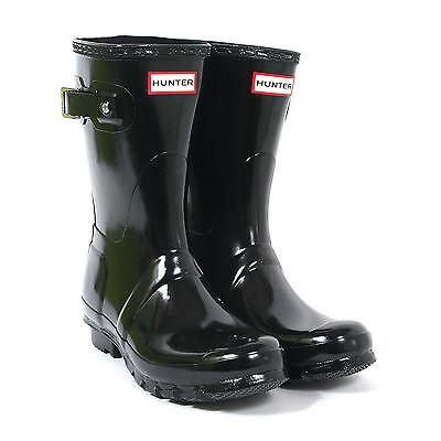 HUNTER ORIGINAL SHORT GLOSS BLACK WELLINGTON BOOTS Welly Short Black Wellies