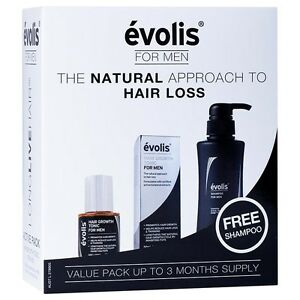 Evolis-Men-039-s-Active-Starter-Pack-3-Months-Supply-Hair-Growth-Tonic-NEW