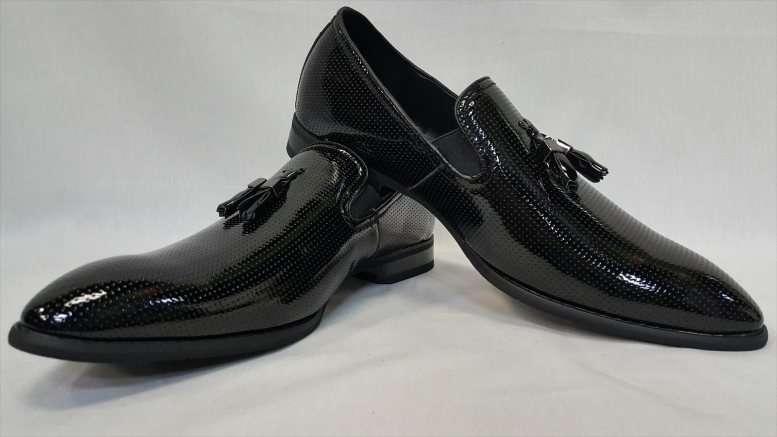 connotazione di lusso low-key NEW Uomo nero Loafers Tassel Wedding Groom scarpe Suit Suit Suit Slip On Casual All Dimensione  molte sorprese