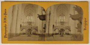 Leuven-Eglise-Pietro-Belgio-Foto-Stereo-L9n35-Vintage-Albumina
