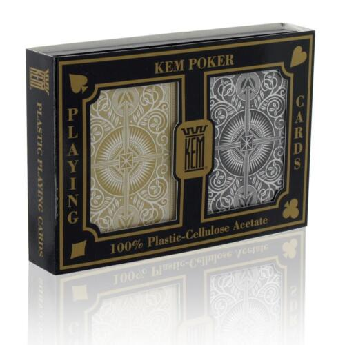 Poker Size Standard Index NEW Kem Arrow Black Gold 100/% Plastic Playing Cards