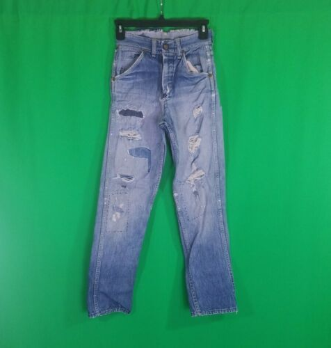 Vtg 1940s 1950s Jeans Indigo Denim Pant Workwear D