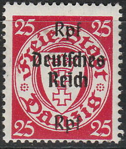 Stamp-Germany-Mi-724-1939-WW2-Reich-Danzig-Empire-Port-Poland-Overprint-MH