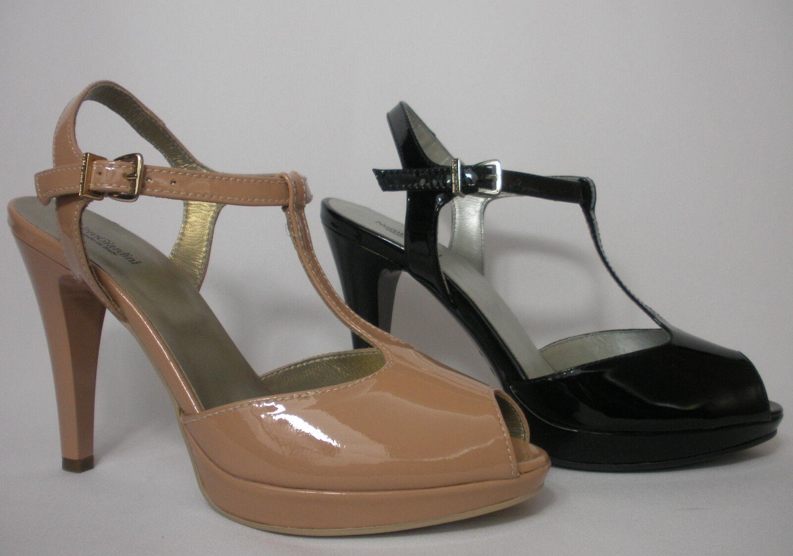 schuhe NERO GIARDINI ELEGANTI Damens P410232DE NERO E NUDO  MADE IN ITALY Schuhe